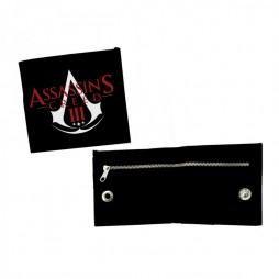 Assassin\'s Creed III - Portafoglio nero con zip