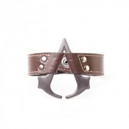 Assassin\'s Creed IV - Braccialetto In Cuoio Logo In Metallo