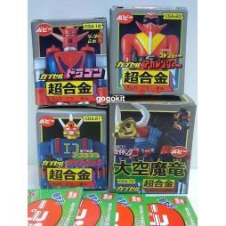 Bandai Popy Chogokin - Capsule Part 5 Gashapon Set of 4 - Getter Robo G Daiku Maryu - Complete SET of 4 Figures