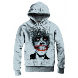 BATMAN - Crazy Joker - Felpa Hoodie EXTRA LARGE