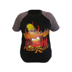 I Simpson - The Simpsons - Homer Philosophy Black - T-shirt Simpsons T-Shirt Homer Rocks EXTRA LARGE