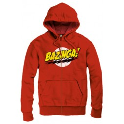 BIG BANG THEORY - Bazinga Red - Felpa Hoodie LARGE