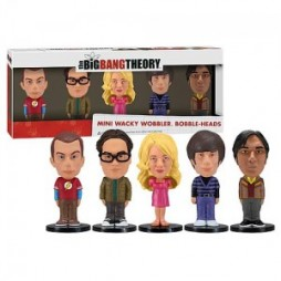 Big Bang Theory - Mini Bobble Heads - 3-inch Wacky Wobblers - Boxed Set (5)