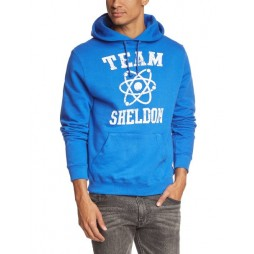 BIG BANG THEORY - Team Sheldon Blue - Felpa Hoodie LARGE