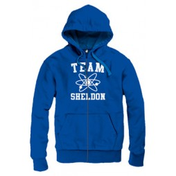 BIG BANG THEORY - Team Sheldon Blue - Felpa Hoodie SMALL