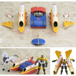 Brave Gohkin 35 + Brave Gohkin 37 - Kotetsu Jeeg - (Koutetsu Jeeg With Pantheroid + Big Shooter) - 2-Pack - Anime Color