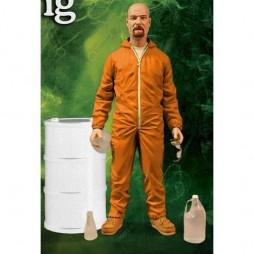 Breaking Bad Walter White Deluxe Action Figure Orange Hazmat Suit Exclusive