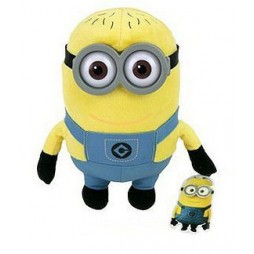 Cattivissimo Me Plush - Minion MARK - Peluche 22 cm Occhiali in Plastica