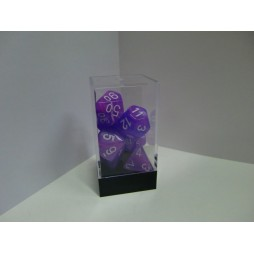 CHESSEX - Set 7 Dadi Wild Purple W/White CHX 21417