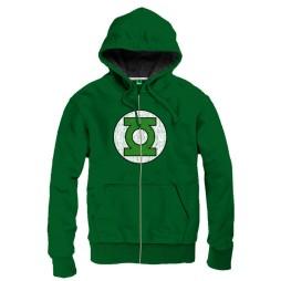 Green Lantern - Logo Green - Felpa Hoodie LARGE