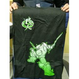 Samurai Trooper Robot Verde - T-Shirt Smanicata - Sfondo Nero - SMALL