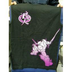 Samurai Trooper Robot VIOLA - T-Shirt Smanicata - Sfondo Nero - EXTRA EXTRA LARGE