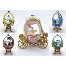 Hello Kitty - Fabergé eggs Complete Figure Set Formation Arts - Set 5 Mini Figure Completo - No Box