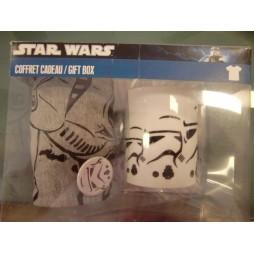Star Wars - Stormtrooper Gift Set - Mug + T-Shirt TAGLIA L+ Lapel Pin