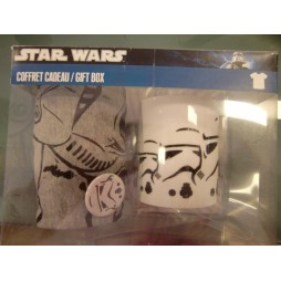 Star Wars - Stormtrooper Gift Set - Mug + T-Shirt TAGLIA M+ Lapel Pin