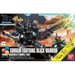 HG BUILD FIGHTERS 061 - GUNDAM LIGHTNING BLACK WARRIOR - YUUMA KOUSAKA\'S MOBILE SUIT 1/144
