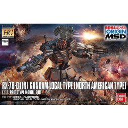 HG Gundam The Origin 017 - RX-78-01[N] GUNDAM LOCAL TYPE (NORTH AMERICAN TYPE) E.F.F.PROTOTYPE MOBILE SUIT 1/144