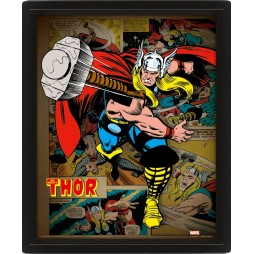 Poster 3D Lenticolare - Marvel Comics - The Mighty Thor - Poster - Classic The Mighty Thor Cover