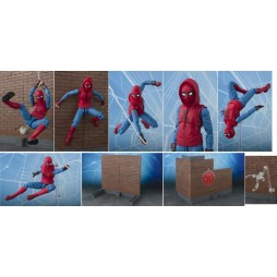 S.H. Figuarts Spider-Man Homecoming Spider-Man Home Made Suit With Wall Diorama