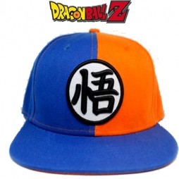 Dragon Ball - Cappello Baseball - Gokou Kanji Orange/Blue