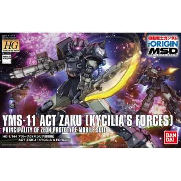 HG Gundam The Origin 020 - YMS-11 ACT ZAKU (KYCILIA\'S FORCES) PRINCIPALITY OF ZEON PROTOTYPE MOBILE SUIT 1/144
