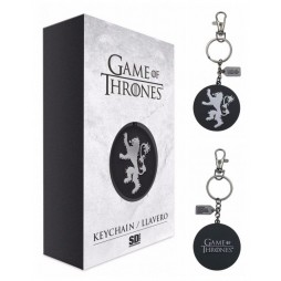 Game Of Thrones - Il Trono di Spade - Keyring 3D - Metal - Portachiavi - Lannister Silver Logo - Keyring