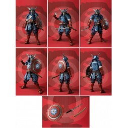 Bandai Meisho - Manga Realization - Marvel Comics - Samurai Captain America - Action Figure