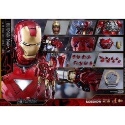 Avengers/Iron Man II Movie Masterpiece Action Figure 1/6 Iron Man Mark VI Die Cast Hot Toys