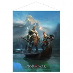 God Of War - Father And Son - Poster - Wall Scroll in Stoffa