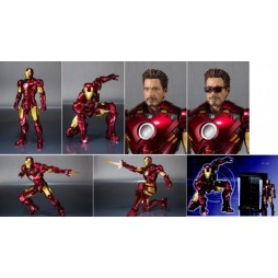 S.H. Figuarts Iron Man 2 Iron Man Mark iV + Hall Of Armor SET - TAMASHI WEB EXCLUSIVE