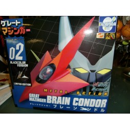 Metal Action 02 - Great Mazinger - Grande Mazinga - Head e Brain Condor - BLACK 02 VERSION