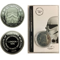 Star Wars - Silver Limited Edidtion 40th Ann. Collector\'s Coin - Stormtrooper - 40 Years Protecting The Empire - Shepper