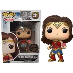 POP! Heroes 211 DC Universe WONDER WOMAN Justice League Movie with Motherbox 4-inch Figure