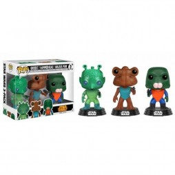 Star Wars POP! - Ep.IV A.N.H. - Convention Exclusive Cantina 3 Pack - Greedo - Hammer-Head - Walrus Man - Vinyl Bobble-H