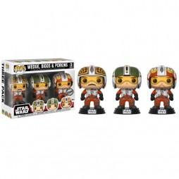 Star Wars POP! - Ep.IV A.N.H. - Walmart Exclusive Squadron Leader 3 Pack - Wedge - Biggs & Porkins - Vinyl Bobble-Head F