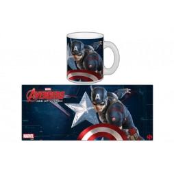 Marvel Comics - Avengers Age Of Ultron - Tazza - Mug Cup - Captain America - Semic