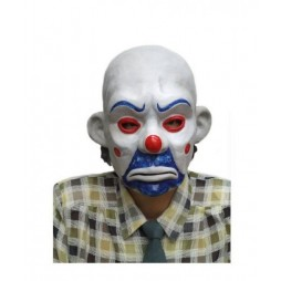 Batman The Dark Knight Movie - Bank Heist - The Joker - 1:1 Prop Replica - Rubber Mask - Bozo