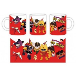 Il Pazzo Mondo Di Go Nagai - Tazza - Mug Cup - Red Mug SD Devilman SD Grendizer SD Jeeg Koji Sayaka Ashura Getter 2