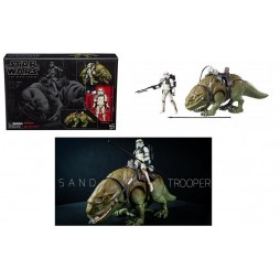Star Wars - The Black Series - 04 - Vintage 6Inch Vehicle 2018 - Sandtrooper and Dewback - Hasbro