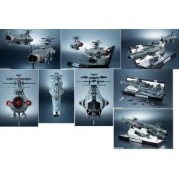 Cosmo Fleet Space Battleship Yamato 2202 - Kikan Taizen YAMATO UNCFD-1 - 2 SHIPS SET - Bandai - Space Battleship UNCFD-1