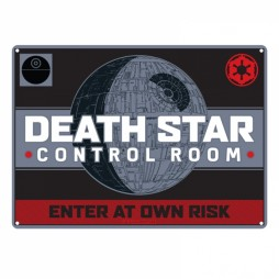 Star Wars - Metal Tin Plate Poster - Death Star Control Room Enter At Your Own Rsk - 21,5x15 cm