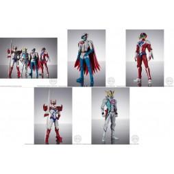 Infini-T Force Shodo - 4 Pack Tekkaman + Hurricane Polymar + Kyashan + Gatchaman Ken - Action Figure Complete SET