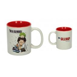 Dr Slump & Arale Chan - Tazza - Mug Cup - I\'m A Genius Slump & Gatchan - Ceramic Mug