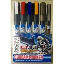 Gundam Marker - AMS-123 IRON BLOODED ORPHANS GM161-GM165 GM-20 - Six Pack SET