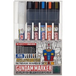 Gundam Marker - GMS-122 UC 0079 GM300-303 GM311-313 - Six Pack SET
