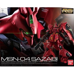 RG Real Grade - 29 MSN-04 SAZABI - NEO ZEON CHAR AZNABLE\'S USE MOBILE SUIT FOR NEWTYPE 1/144
