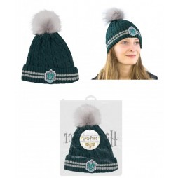 Harry Potter - Beanie Con Pom-Pom - Slytherin