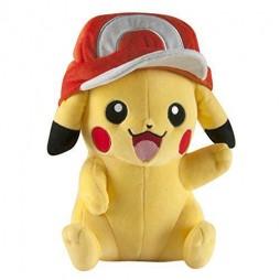 Pokemon Plush - Pikachu With Ash Cap - Peluche 26 cm