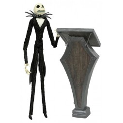 Nightmare Before Christmas - Diamond Select - Silver Anniversary - Jack Skellington Podium Deluxe Silver Coffin Box - 35