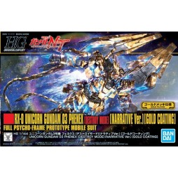 HG Universal Century 216 - HGUC - RX0-UNICORN GUNDAM 03 PHENEX [DESTROY MODE] [NARRATIVE VER.] [GOLD COATING]- Full Psyc